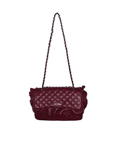Mia Bag Borsa 17336 Tracolla Morbida Trapuntata Rouches 016 Bordeaux FW 17/18