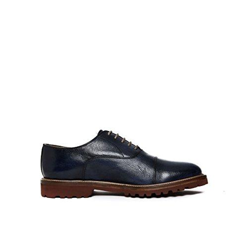 British Passport Oxford - Zapatos de Cordones de Piel Para Hombre Marrón Marrón