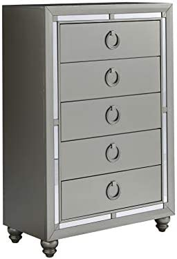 home, kitchen, furniture, bedroom furniture,  dressers 6 image Global Furniture USA (1621 Riley Chest, Silver in USA
