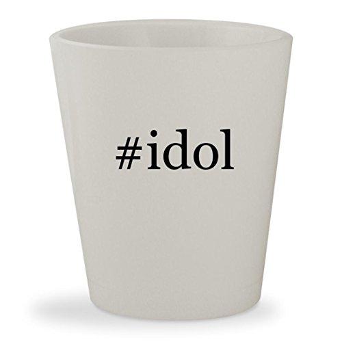 Price comparison product image #idol - White Hashtag Ceramic 1.5oz Shot Glass