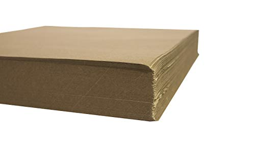 Crown Display 480 Count Kraft Paper Sheets ~ 80 GSM Brown Kraft Wrapping Paper Ream ~ Bulk Packaging for Shipping, Packing, Postal, Arts and Crafts (20 in. x 30 in. ()