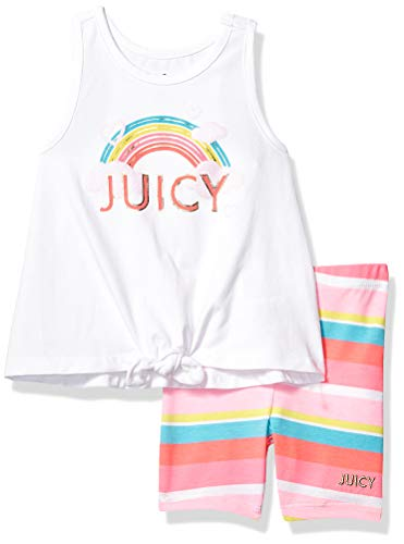 Juicy Couture Girls' Toddler 2 Pieces Shorts Set, White 3T from Juicy Couture