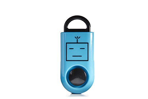 B A S U eAlarm, America's #1 Emergency Alarm, Proven Results as seen on TV, Battery Included, Carabiner Included, Blue