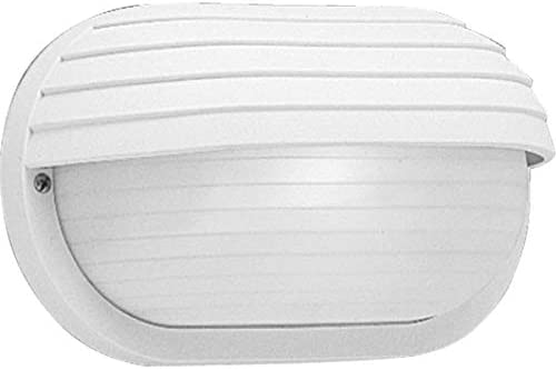 Progress Lighting P5706-30 Transitional One Light Wall Bracket from Polycarbonate Outdoor Collection in White Finish, 10-1 2-Inch Width x 5-7 8-Inch Height