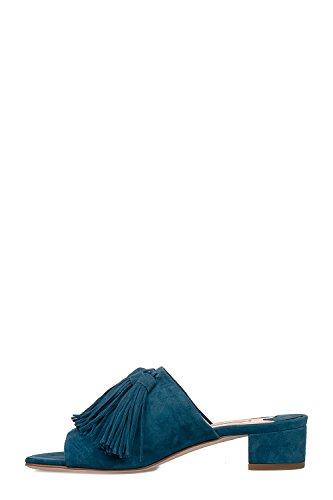 Fabio Rusconi Vrouwen S36061652 Blauwe Suède Sandalen