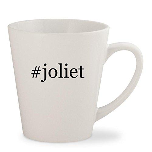 #joliet - White Hashtag 12oz Ceramic Latte Mug - Joliet Malls Il In