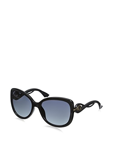 Dior D28 Shiny Black Twisting Butterfly Sunglasses Lens Category - Dior Sunglasses Butterfly