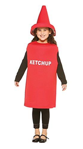Rasta Imposta Lightweight Ketchup Children's Costume, 7-10, Red -