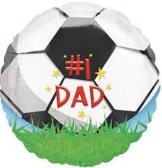 Amscan 45,72 cm Número 1 Dad Globos de balón de fútbol: Amazon.es ...