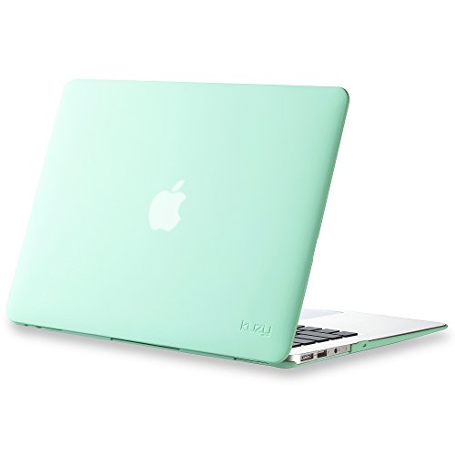 Kuzy MacBook Air 13 inch Case A1466 A1369 Soft Touch Cover for Older Version 2017, 2016, 2015 Hard Shell - Mint ()