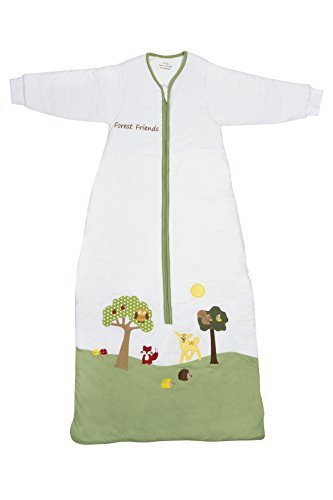 Slumbersafe Winter Kid Sleeping Bag Long Sleeves 3.5 Tog - Forest Friends, 3-6