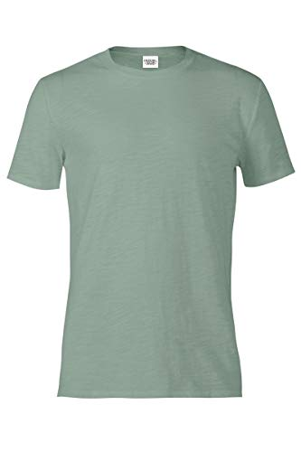 (Casual Garb Men's Slub Crew Neck T Shirt Short Sleeve Tee T Shirts for Men Sea Glass Medium)