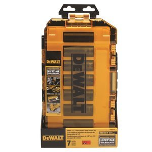 DEWALT DWMT74737 Tough Box 7PC Metric 1/2 Deep Drive Impact