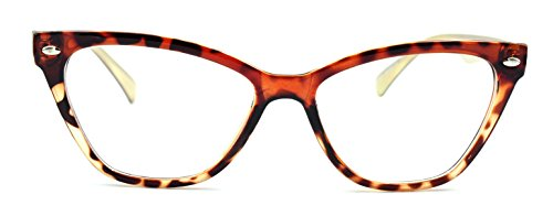 Women's Cat Eye Glasses Clear Lens Eyeglass Frames Tortoise - Lens Rx