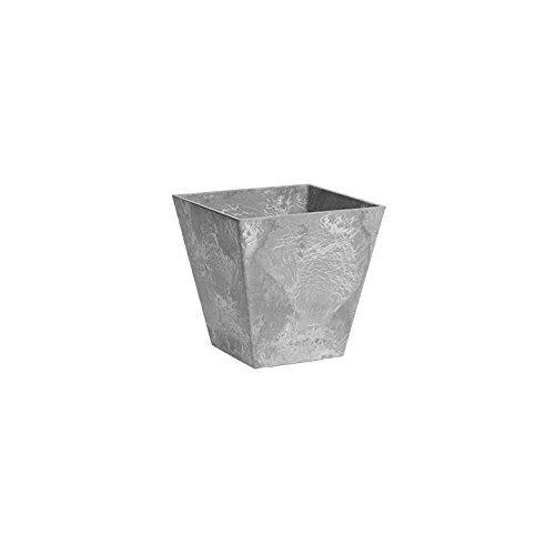 ArtStone 35060 Ella Square Planter, 6-Inch, Grey ()