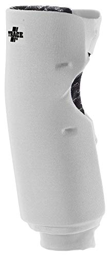 Adams USA Trace Long Style Softball Knee Guard (Large, White)