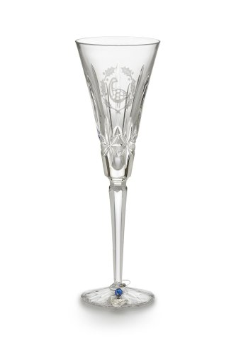 - Waterford Crystal 6th Edition 12 Days of Christmas Champagne Flute, Six Geese-a-Laying