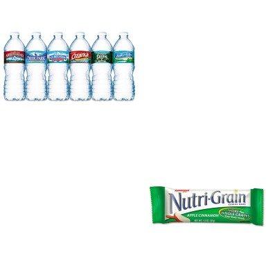 kitkeb35645nle101243-value-kit-kelloggs-nutri-grain-cereal-bars-keb35645-and-nestle-bottled-spring-w