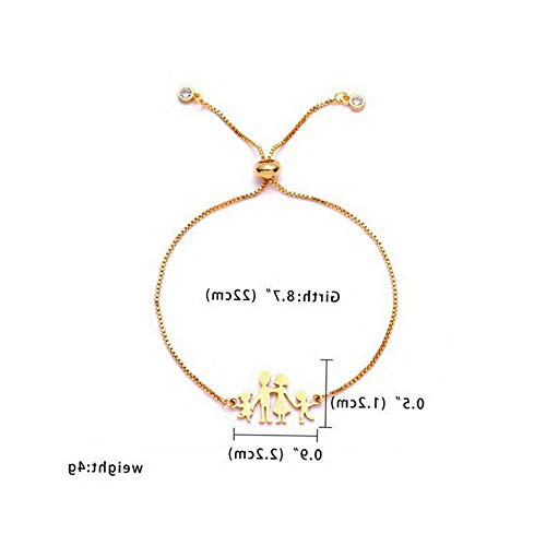 Mikash Women Gold Stainless Steel Love Heart Chain Cuff Bracelet Bangle Jewelry Gifts | Model BRCLT - 11550 | ()