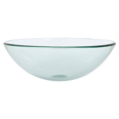 Olive`s Clear Glass Vessel Sink - 17' Single Bowl Kitchen