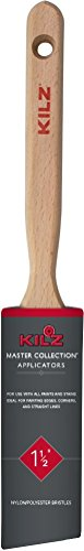 Polyester Blend Paint Brush - KILZ MASTER COLLECTION Handcrafted Nylon-Polyester Blend Angle Sash Paint Brush, 1.5-Inch