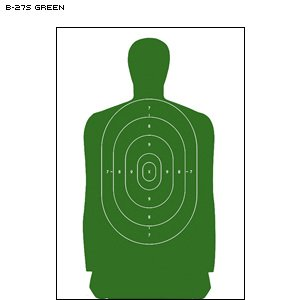 B-27CB Cardboard Targets/ Green 100 PACK by Law Enforcement Targets