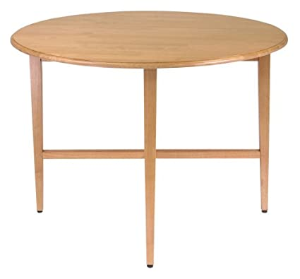 Winsome Wood 42 Inch Round Drop Leaf Table