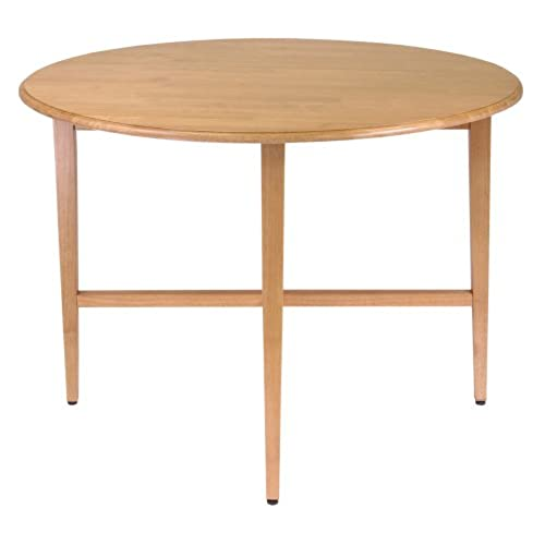 Round Dining Table With Leaf: Round Wood Dining Table With Leaves: Amazon.com