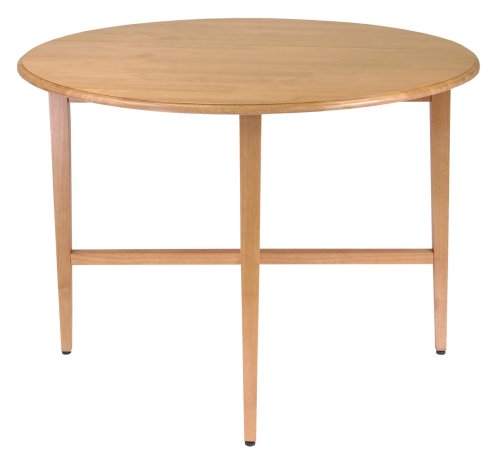 Winsome Wood 42-Inch Round Drop Leaf Table (Small Round High Table)