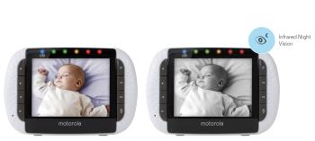Motorola Focus360 wireless baby monitor has infrared night vision.