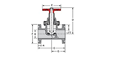 Spears 6013-060 PVC Schedule 80 Globe Valve, Flanged, Buna-N, 6-Inch by Spears