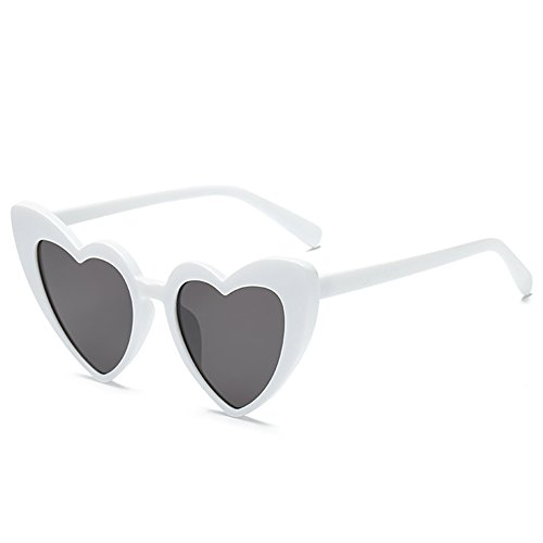 Love Heart Shaped Sunglasses Women Vintage Cat Eye Mod Style Retro - Designer Shape