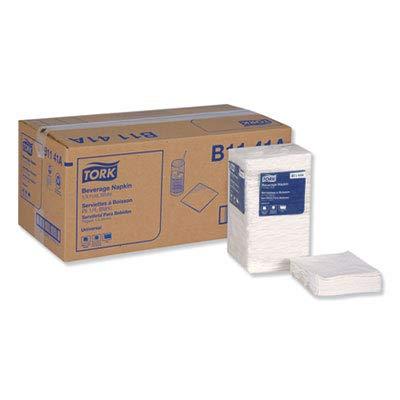 (Tork B1141A Universal Beverage Napkin, White, 1-Ply, 1/4 Fold, 9.38