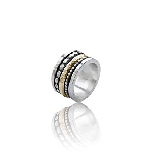 Amazon.com: Sterling silver spinner ring, spinning ring ...