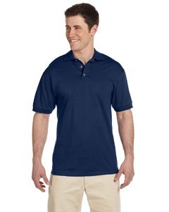 Jerzees mens 6.1 oz. Heavyweight Cotton Jersey Polo(J100)-J NAVY-L