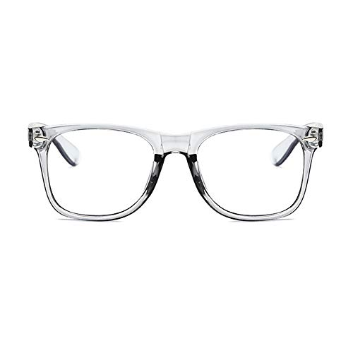 Unisex Blue Light Blocking Glasses Square/Half Frame Eyeglasses Frame Anti Blue Ray for Computer Game Eyewear ()