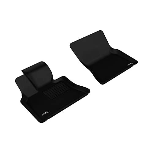 3D MAXpider Front Row Custom Fit All-Weather Floor Mat for Select BMW 3 Series Models Kagu Rubber Black L1BM03711509