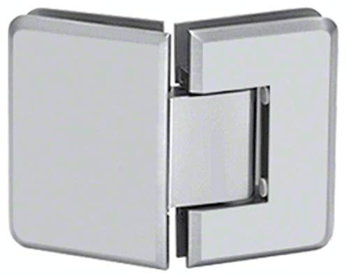 CRL Pinnacle 045 Series Satin Chrome 135º Glass-To-Glass Standard Hinge