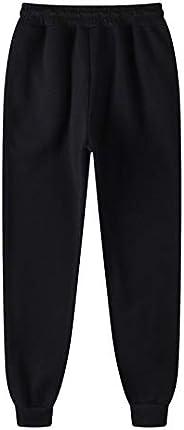 WZRY Men's Jogger Casual Pants Solid Color Jogging Slim Fit Elastic Hip-Hop Sports Pants Plus Cashmere Cas