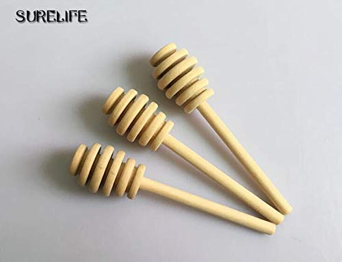 HOT - Spoons - 50pcs Practical Long Handle Wood Honey Spoon Mixing Stick Dipper For Honey Jar Supplies Kitchen Tools - 1 PCs by Annona