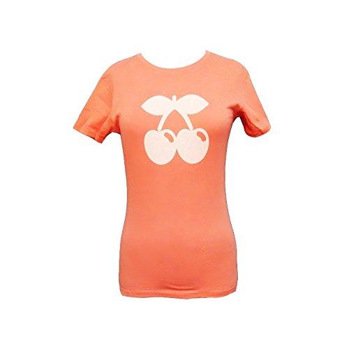 Pacha: Peach Cherry Tone Logo T-shirt - Peach, M - Medium (Medium Tone Cherry)