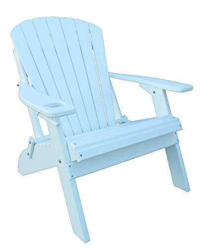 (Oversized Folding Adirondack Chair Big Boy Style - Poly Lumber - Cedar )