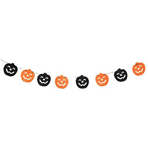 (Brave669 Halloween Party Spider Skull Ghost Bat Pumpkin Garland Bunting Banner Decor Prop Smily)