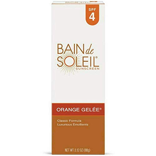 Bain de Soleil Orange Gelee Sunscreen, SPF 4 3.12 oz Pack of 4