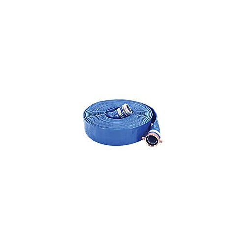 Apache 98138045 2'' x 50' Blue PVC Lay-Flat Discharge Hose with Aluminum Pin Lug Fittings by Apache