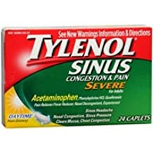 Sinus Congestion and Pain Severe Caplets Daytime, 24 Caplets (Pack of 2)