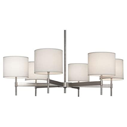 Robert abbey s2188 chandeliers with fondine fabric shades stainless robert abbey s2188 chandeliers with fondine fabric shades stainless steel finish aloadofball Image collections