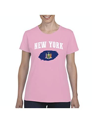 New York Women's Short Sleeve T-Shirt (2XLLP) Light Pink]()