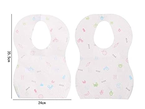 UHUA - 10 toallas desechables para bebé, para saliva de bebé, para niños de