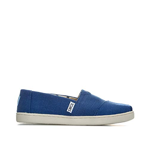 (TOMS Kids Unisex Venice Collection Alpargata (Little Kid/Big Kid) Classic Blue Heritage Canvas 6 M US Big Kid)